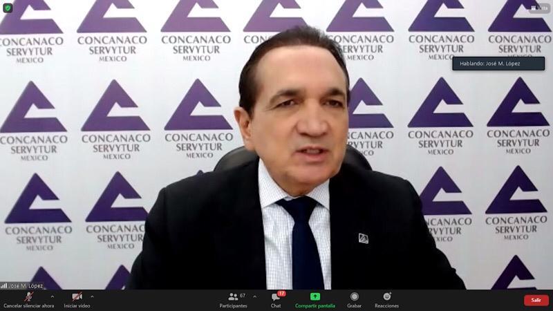 José Manuel López Campos, presidente de Concanaco Servytur